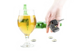 Alcoholic Drink With Keys in Hand