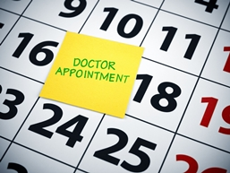 Calendar With a Doctor Appointment Reminder