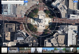 Image of the Indianapolis Circle Using Google Earth