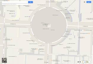 Map image of Indianapolis Circle Without Google Earth