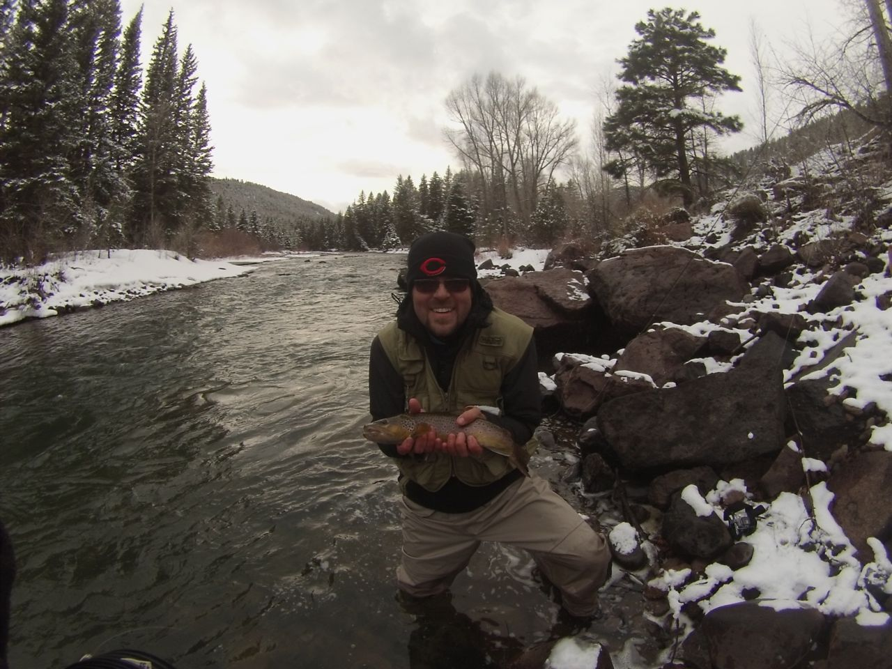 Attorney Andy Ray fly fishing