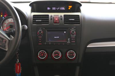 The dashboard of a modern car