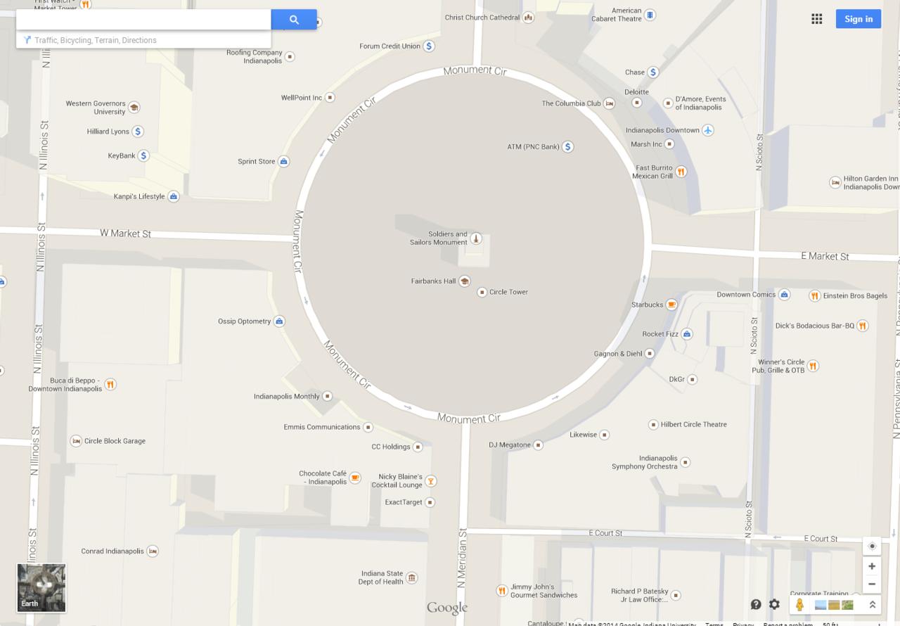 Map image of Indianapolis Circle