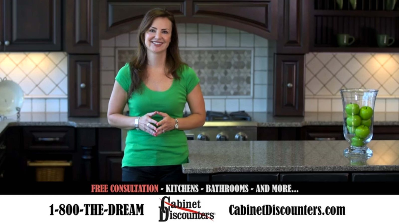 cabinet discounters spokesmodel