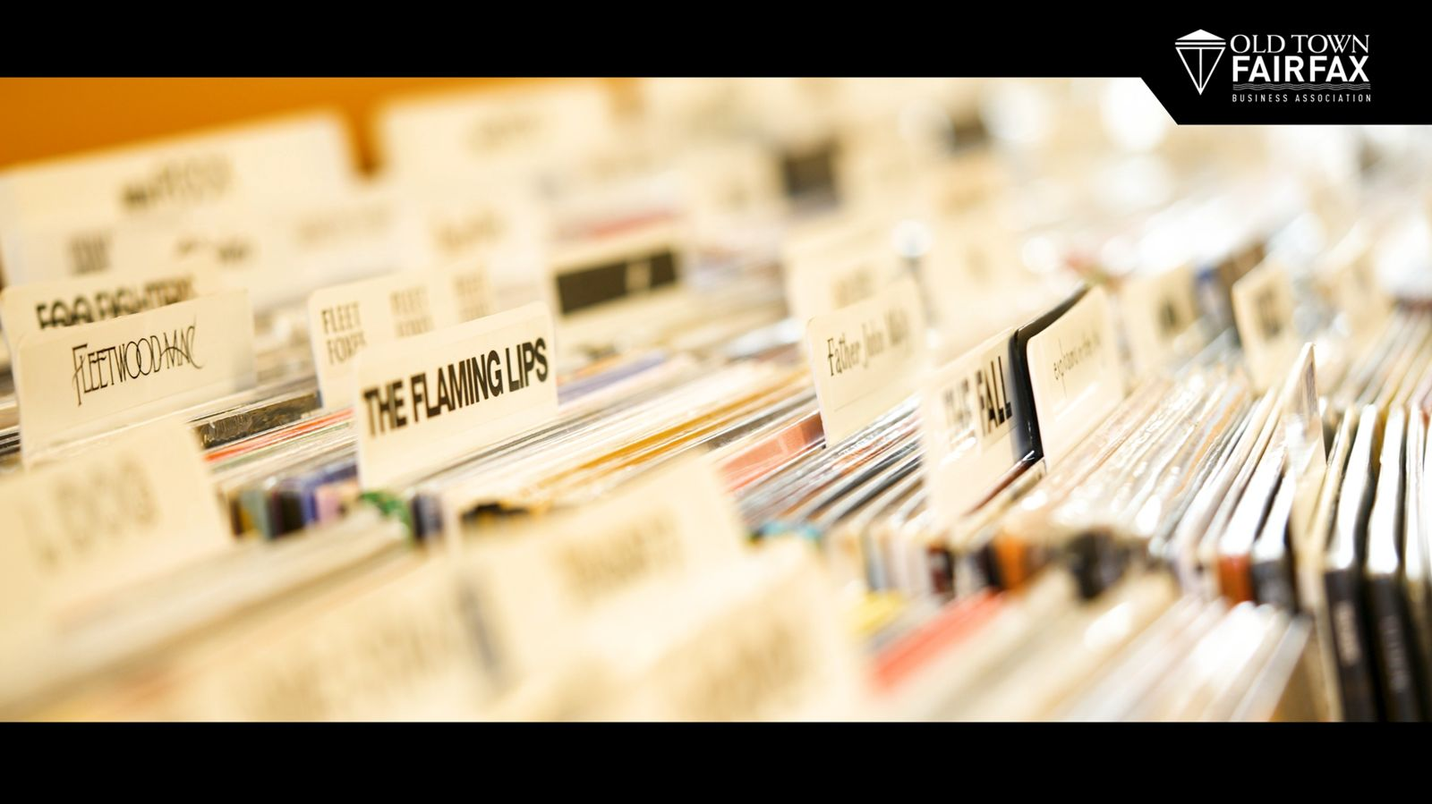 box of vinyl records