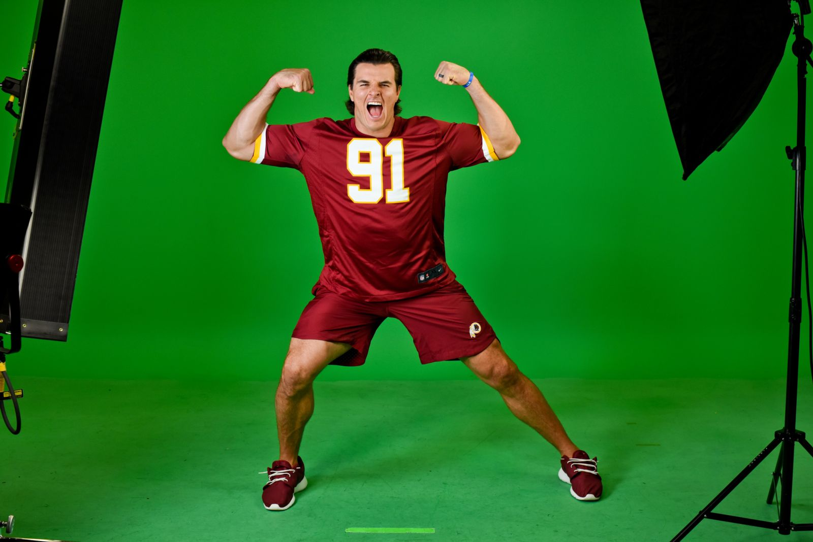 Ryan Kerrigan at Virginia green screen studio