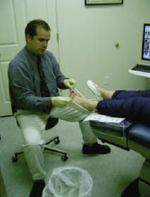 Dr Gibson casting for orthotics