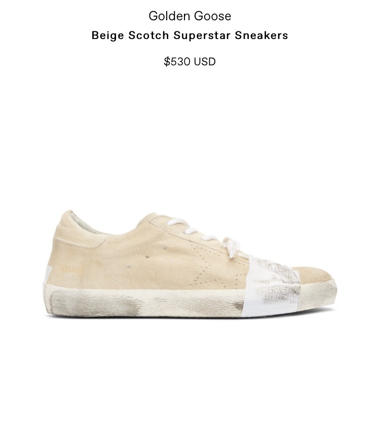 """Yes, that's the actual price of these """"distressed"""" sneakers"""