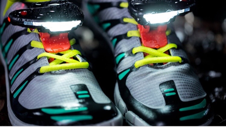 These clip on LED lights could be a great safety addition to your evening runs!