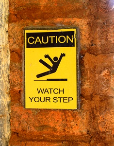 eight steps to take after a slip and fall accident