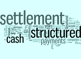 What is a structured settlement?
