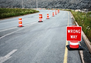 leading causes of wrong-way crashes