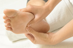 Apply moisture with a little foot massage for an indulgent way to prevent calluses