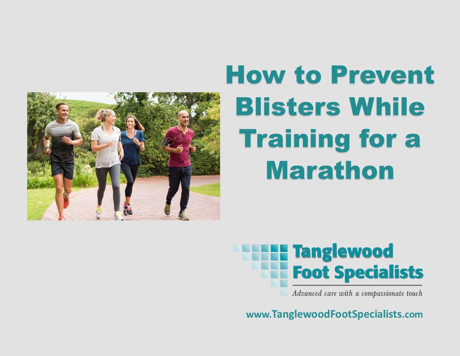 Houston podiatrist discusses preventing blisters during marathon training