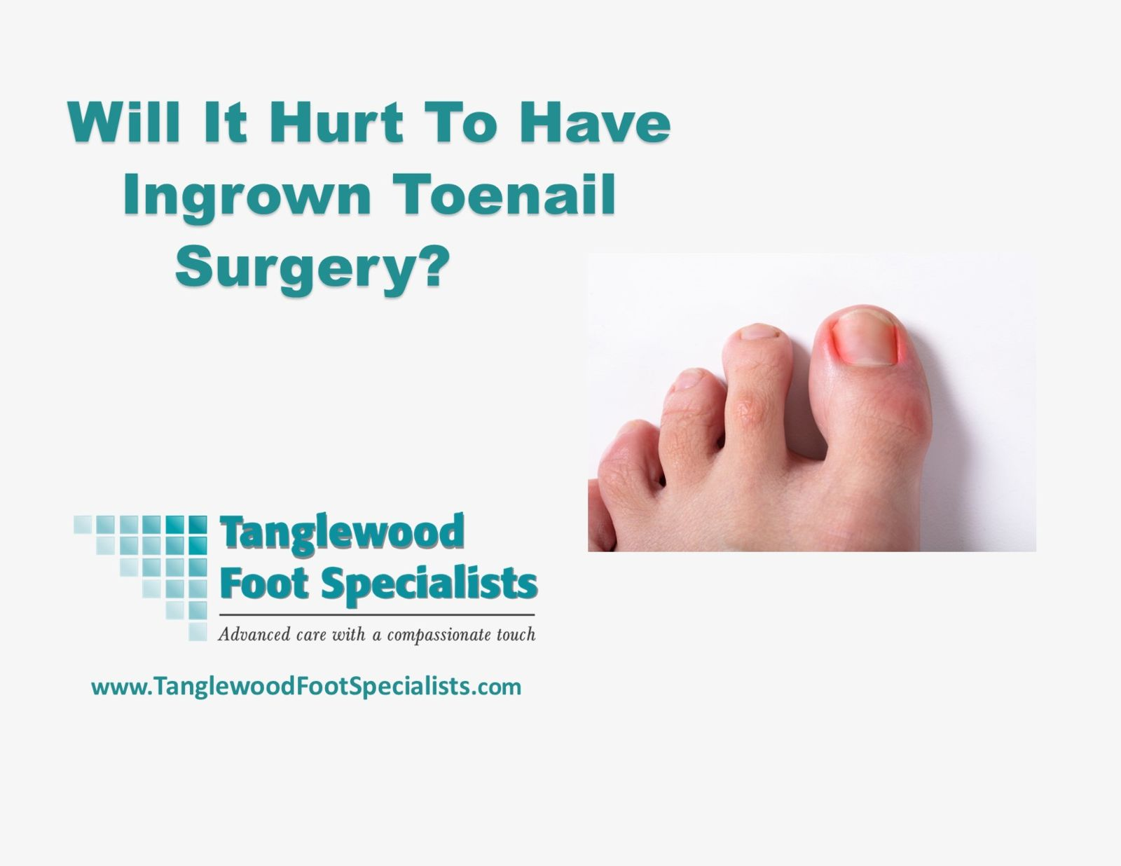 Houston podiatrist recommends painless ingrown toenail removal and surgery