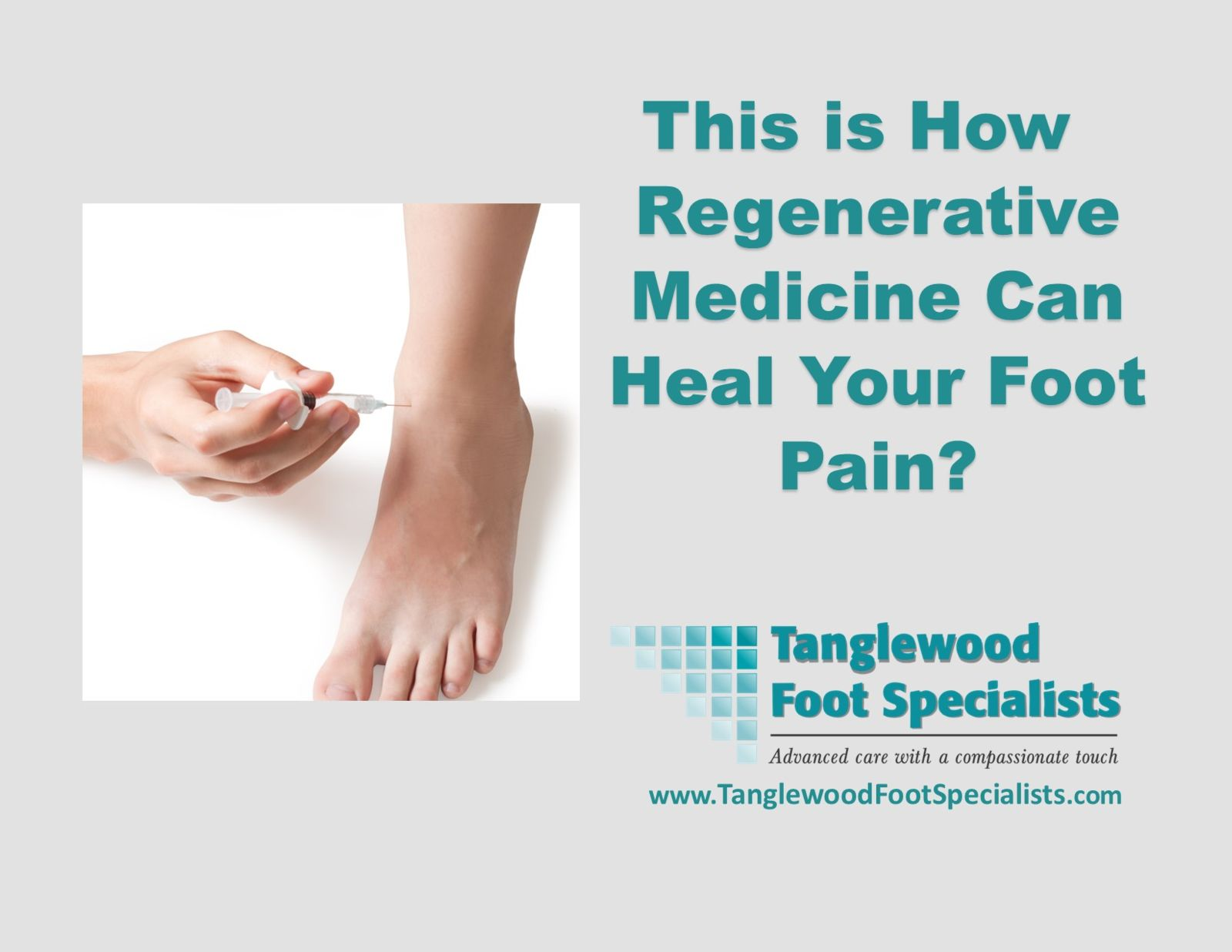 Houston Podiatrist Treating foot pain with regenerative medicine, PRP, Stem Cell Injections, and Exosomes injection therapy