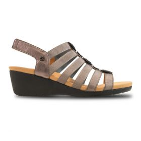 This summer sandal scores wins for the heel and ankle strap, but watch out for open-toed shoes.