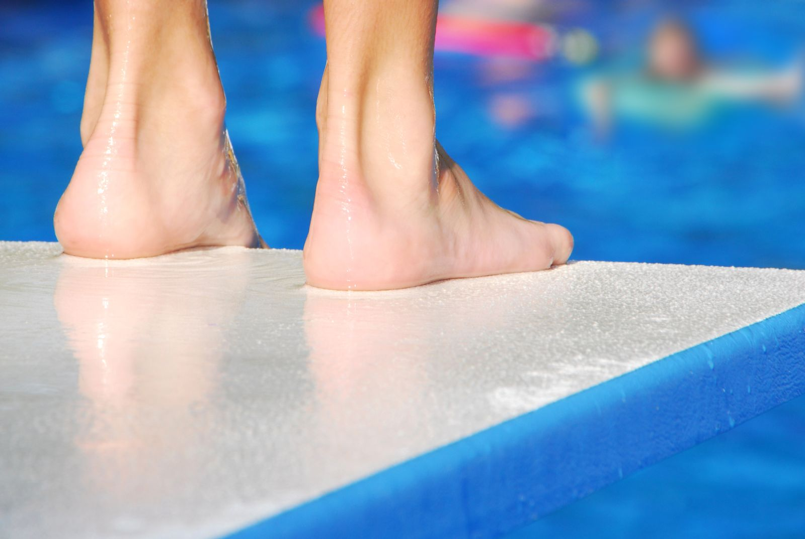Walking barefoot at the pool or in a public locker room makes children vulnerable to plantar warts