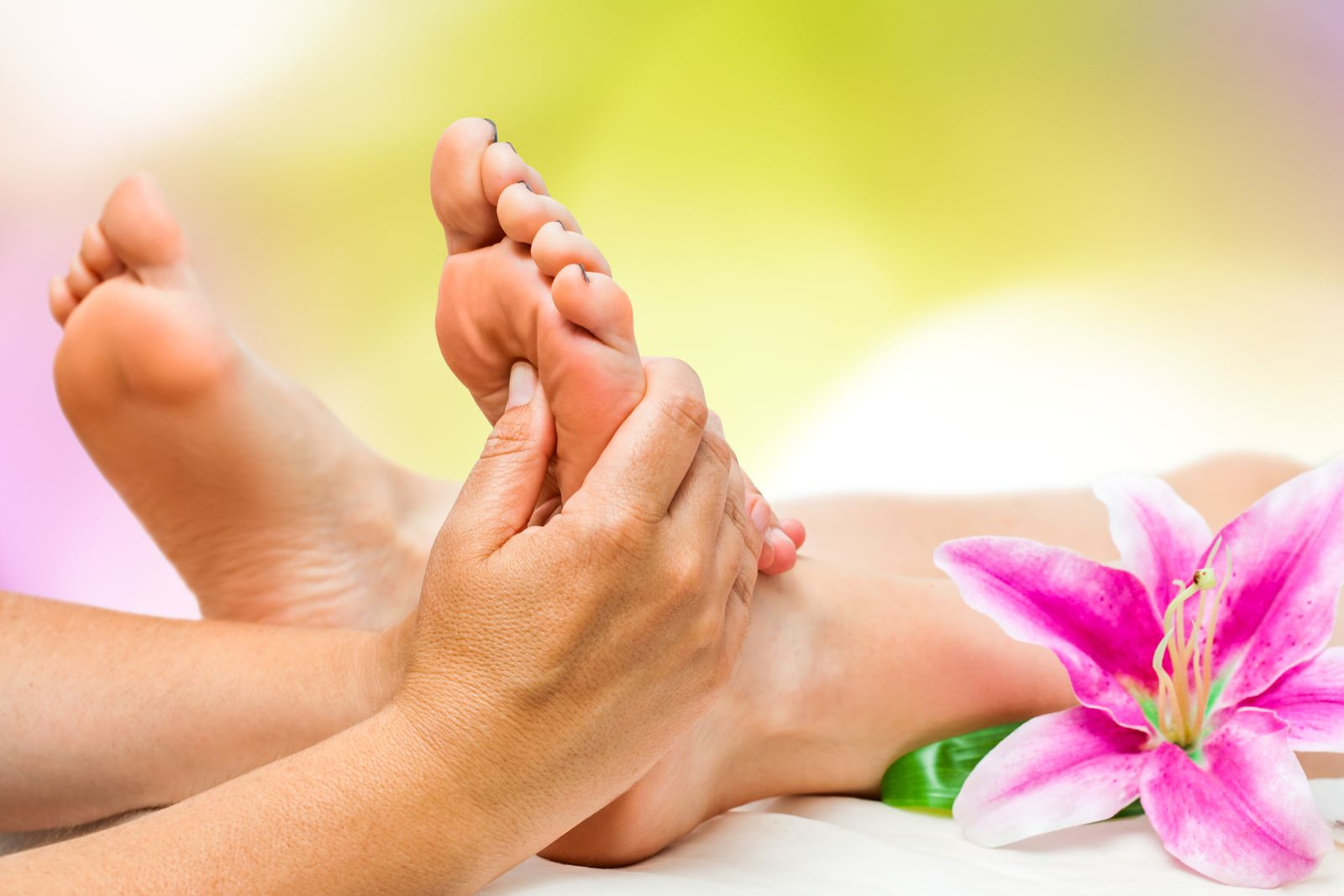 Creams can help you hydrate and pamper your feet, even if you apply them yourself