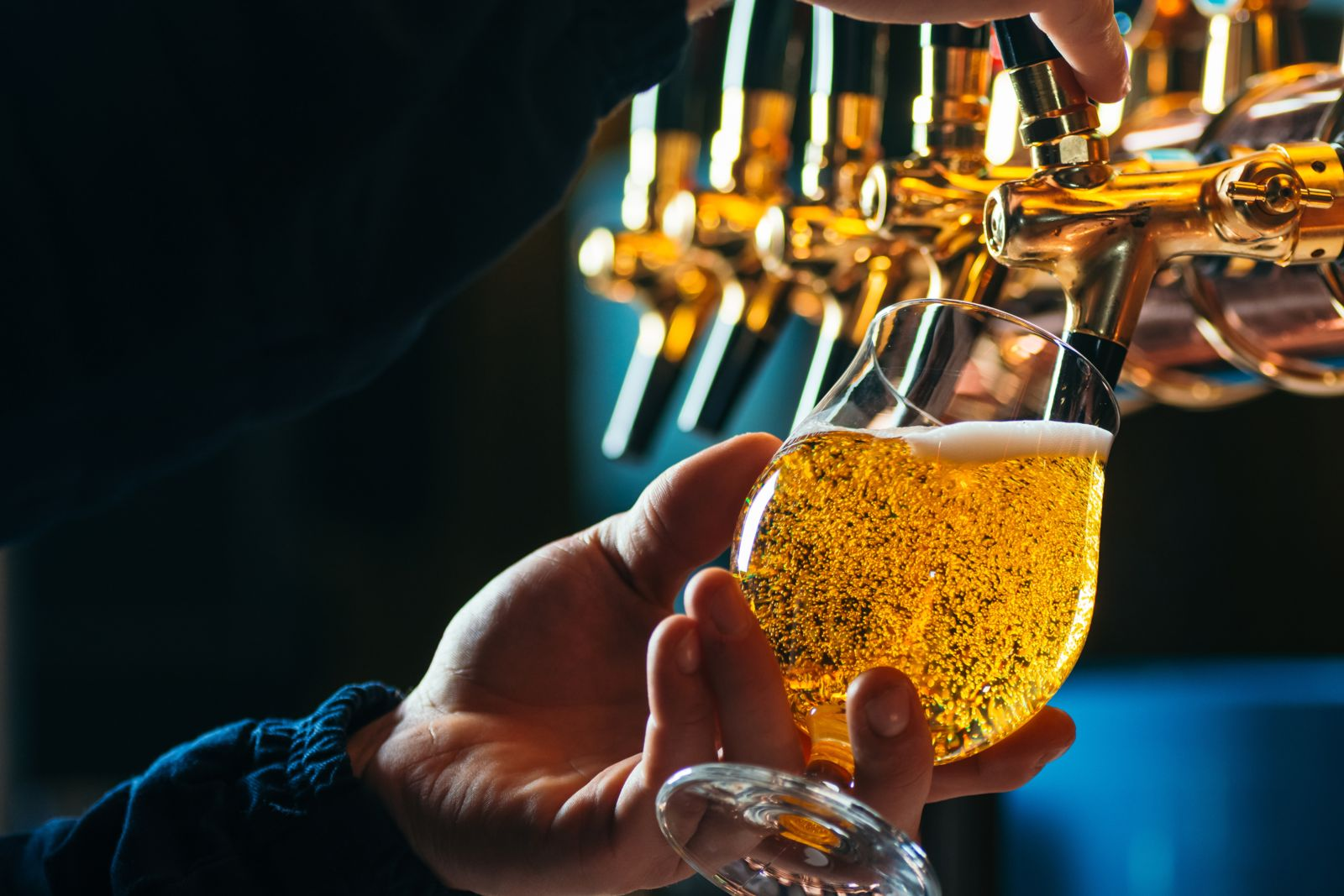 Alcoholic drinks such as beer are high in purines, and increase your gout risk