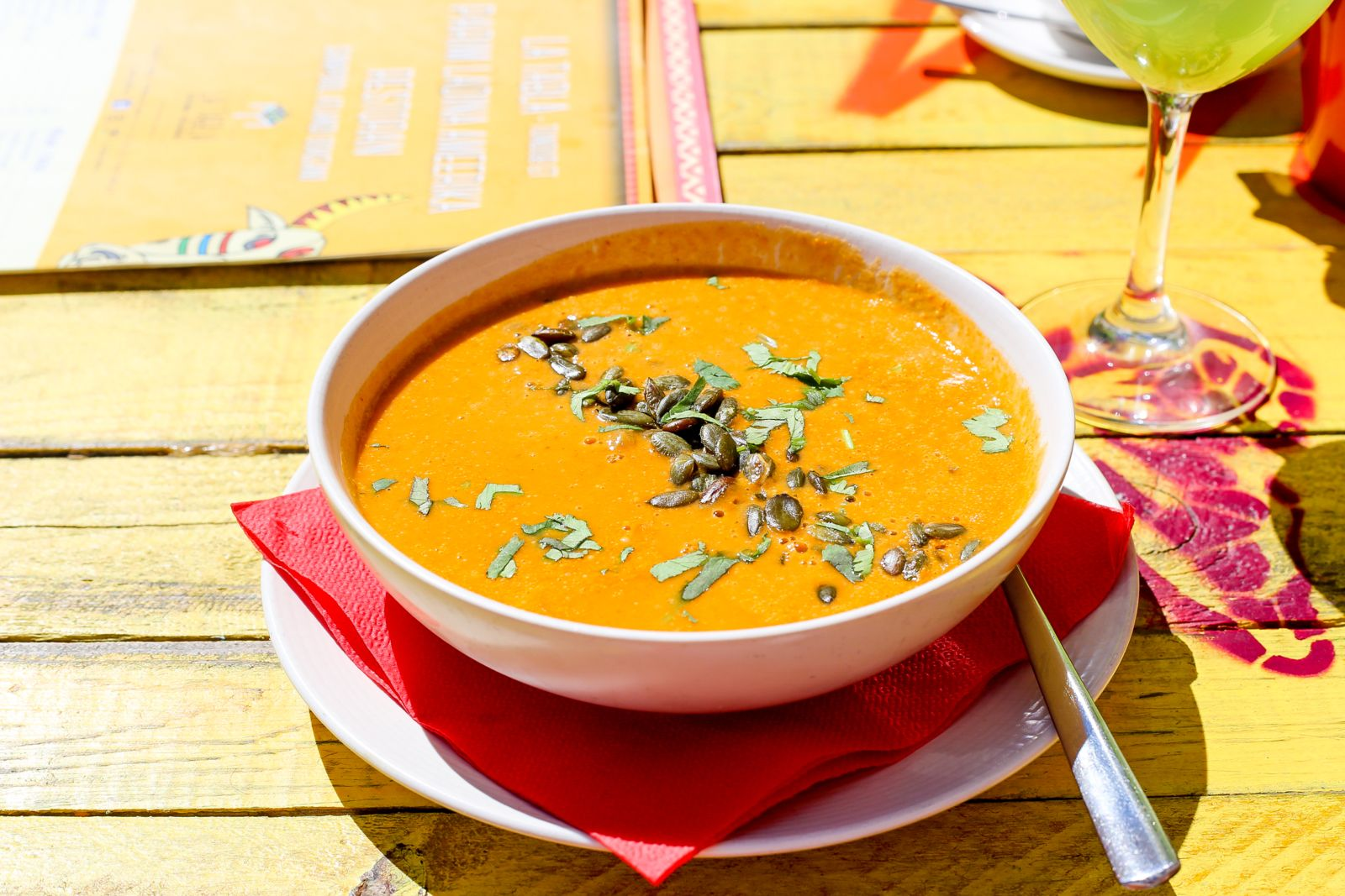 Squash soup is a healthful and delicious addition to your holiday menu