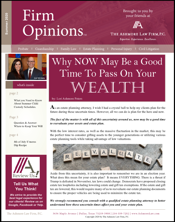 Summer 2020 Newsletter Ashmore Law Firm