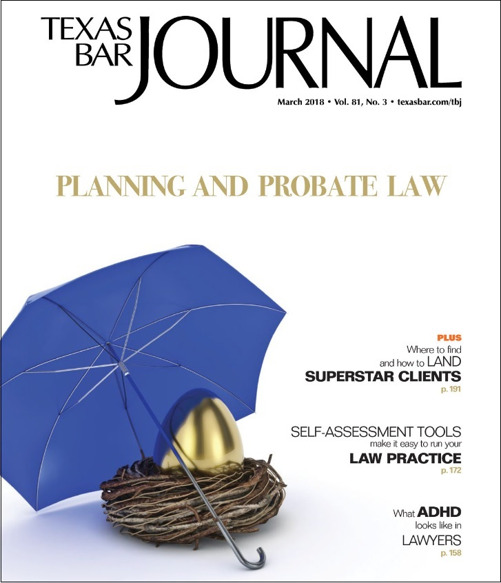 Texas Bar Journal Planning and Probate Law