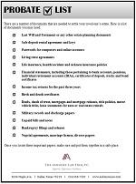 probate checklist