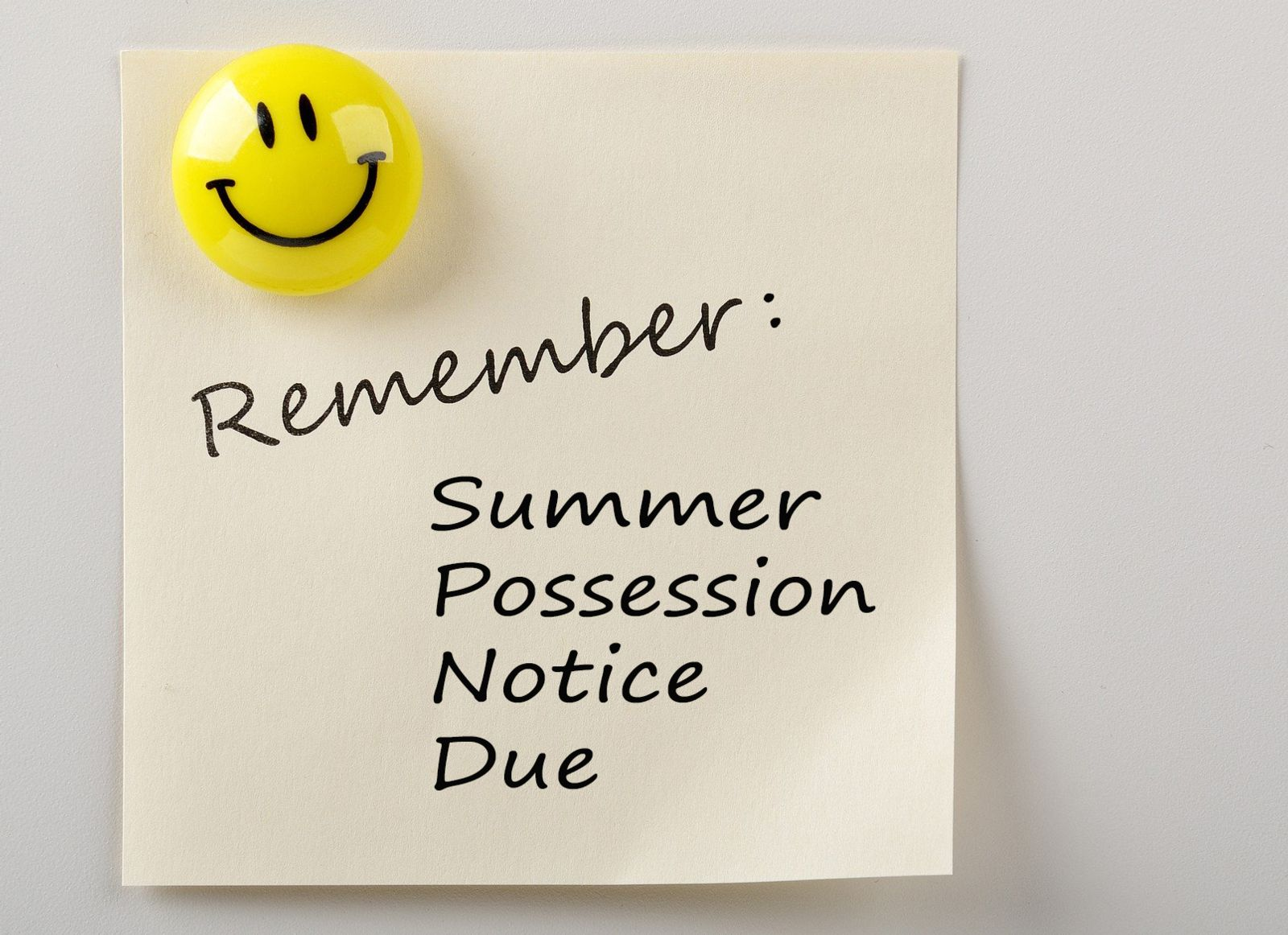 Child Possession Summer Schedule
