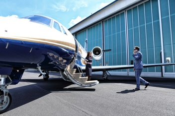 Charter Flight Plane Ready for Take Off