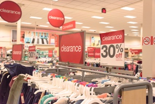 Clearance Rack in a Large Retail Store