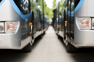 Shuttle Bus Fleet of Vehicles That Are at Risk for Flood Damage