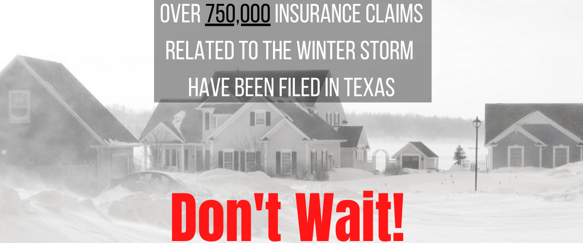 Winter Storm Texas frozen pipe insurance claim