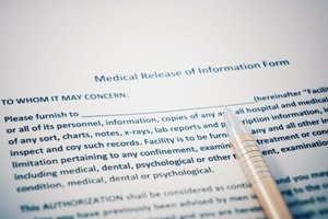 do not sign a medical release form