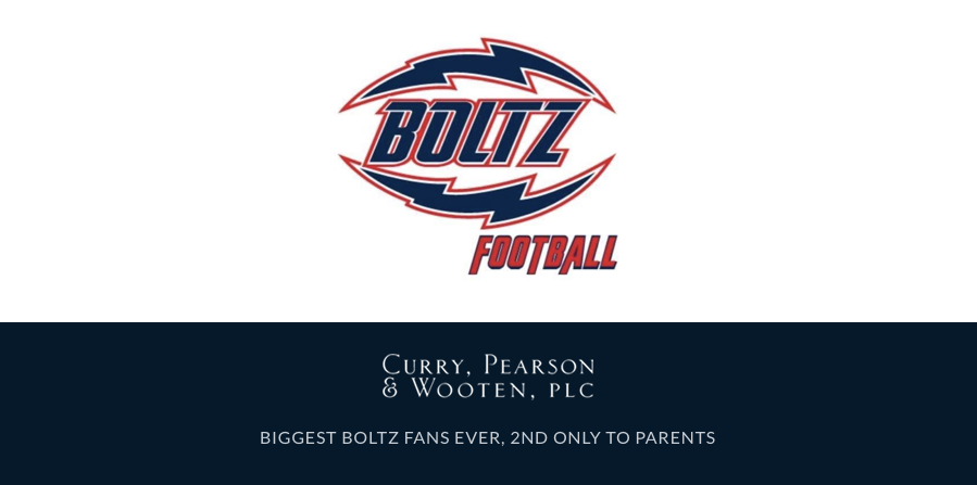 Curry Pearson & Wooten Biggest Fans of AZ Bolts Youth Football