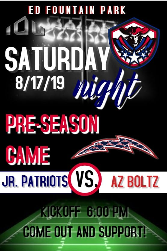 AZ Boltz visit LV Patriots for preseason match up
