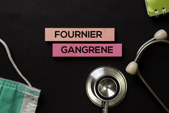 Fournier Gangrene Text and Stethoscope