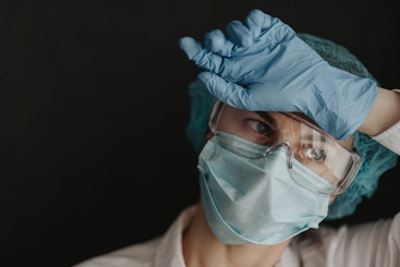 Medical Worker in Protective Gear During the COVID-19 Pandemic