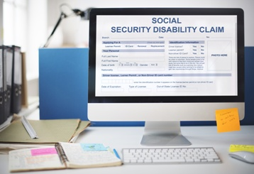 Social Security Disability Claim on the Computer Screen