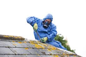 roofer removing harmful material