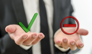 Accept or Deny Buttons in a Lawyers Hands