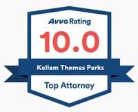 Kellam T. Parks has a 10.0 rating from AVVO