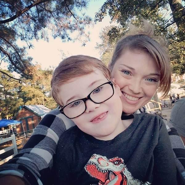 Virginia Attorney Erin McDaniel with her son Duffy