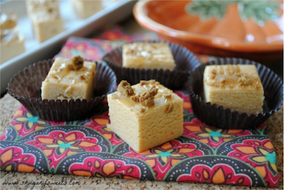 Pumpkin Spice Fudge pieces.