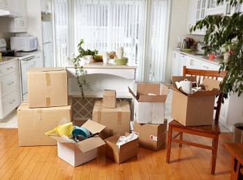 Packing the furniture and possessions of an estate