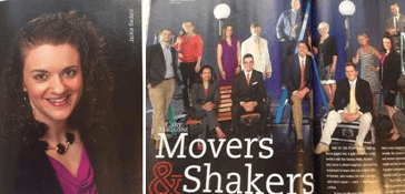 Jackie Bedard wins the Movers & Shakers award