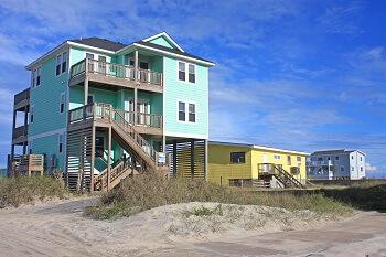 Family beach vacation house in North Carolina