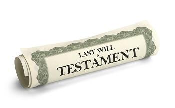 North Carolina last will and testament document