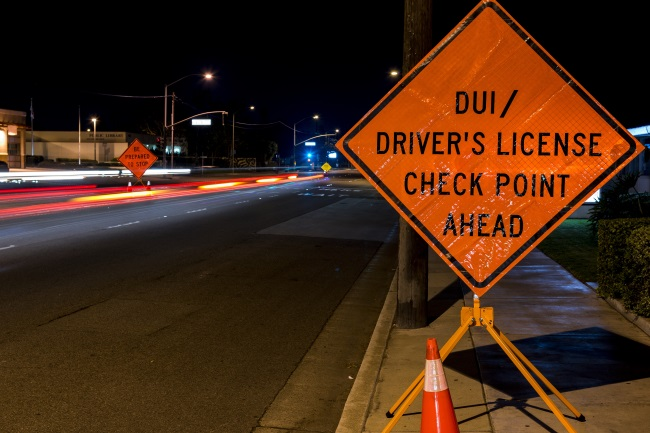 dui checkpoint sign