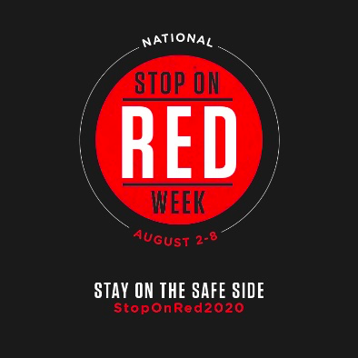 stop on red week for safe driving